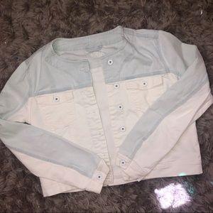Zara Basic Two Toned Denim Jacket
